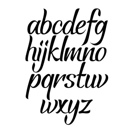 Brush script calligraphy cursive type