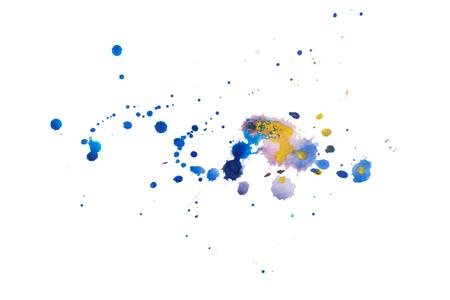 Color retro vintage abstract watercolour aquarelle art hand drawn paint Foto de archivo