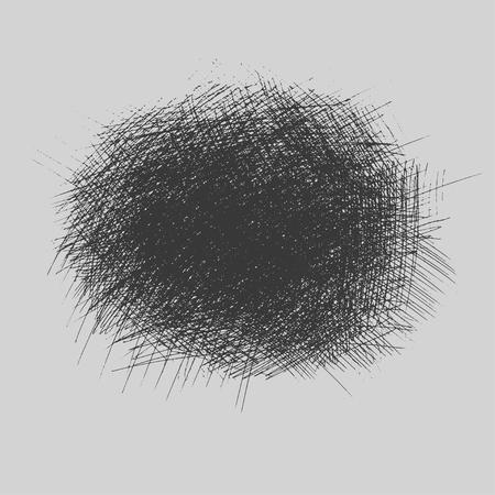 Texturas ásperas del trama del Grunge que trazan fijadas. ilustración vectorial Foto de archivo - 90502055
