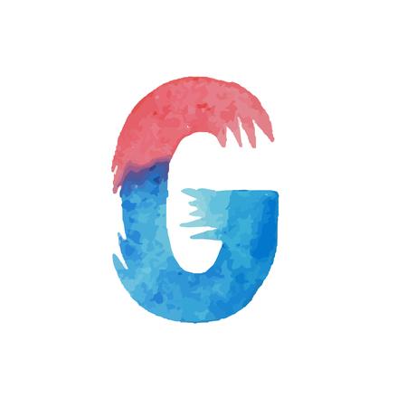 Colorful watercolor aquarelle font type handwritten hand draw abc alphabet letters. Çizim