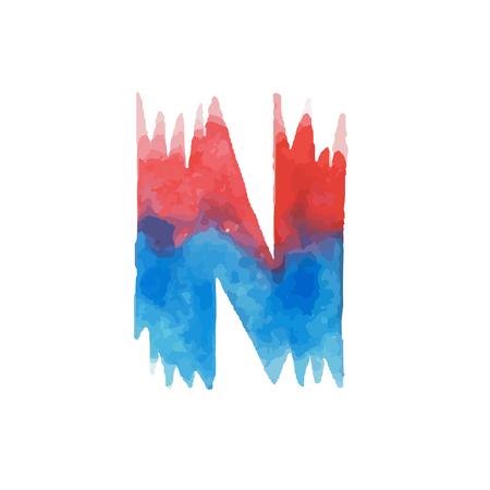Colorful watercolor aquarelle font type handwritten hand draw abc alphabet letters. Illustration