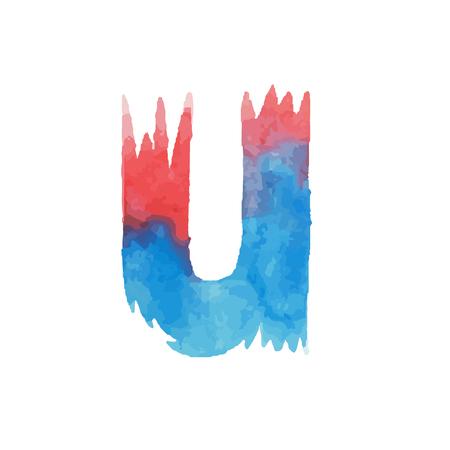 カラフルな水彩 aquarelle フォント手書きタイプ手描 abc アルファベット