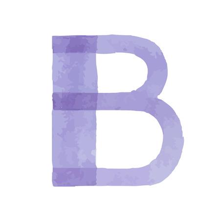 水彩水彩フォントタイプ手書き手書きは、abcアルファベットの文字を描きます  イラスト・ベクター素材