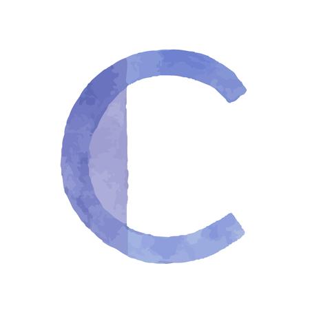 Aquarelle aquarelle polices type manuscrite main dessiner des lettres de l'alphabet abc Banque d'images - 93022190