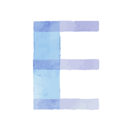 Watercolor aquarelle font type handwritten hand draw abc alphabet letters.