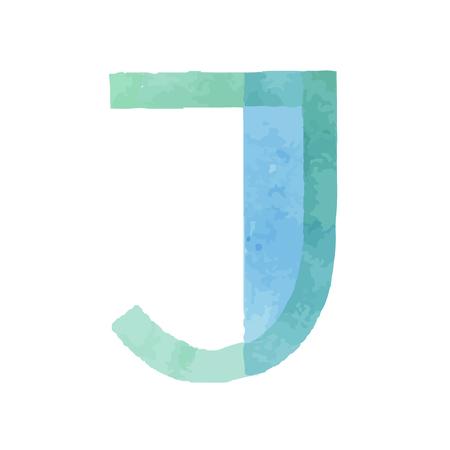 Aquarelle aquarelle police type police manuscrite fait des lettres alphabet abc Banque d'images - 93024127