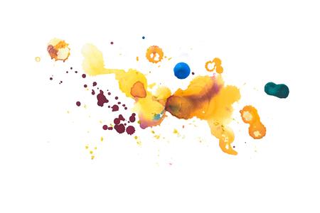 색 레트로 빈티지 추상 수채화 수채화 아트 손으로 그린 페인트