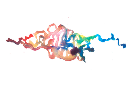 Color retro vintage abstract watercolour aquarelle art hand drawn paint Stock Photo