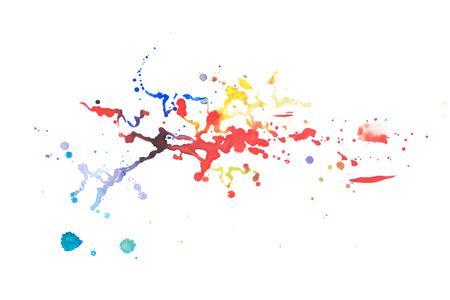 Color retro vintage abstract watercolour aquarelle art hand drawn paint Stock fotó