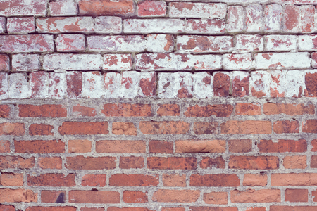 Brick wall, old texture of red stone blocks. Background. 写真素材 - 95050085