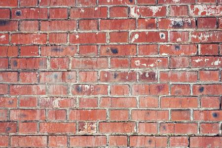 Mur de briques, texture ancienne de blocs de pierre rouge. Contexte. Banque d'images - 95050130