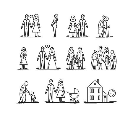 家族の発達段階、親子。関係母父子供子供祖父と祖母。 写真素材 - 95225726