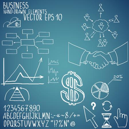 Business elements. Hand-drawn Foto de archivo - 95318189