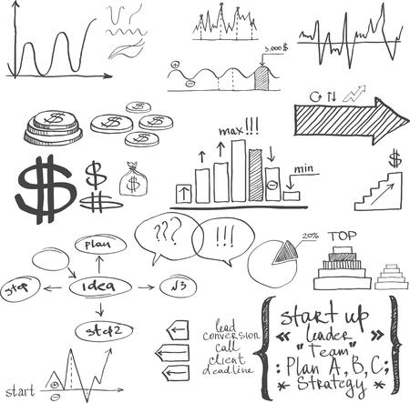 Business elements. Hand-drawn Foto de archivo - 95318192