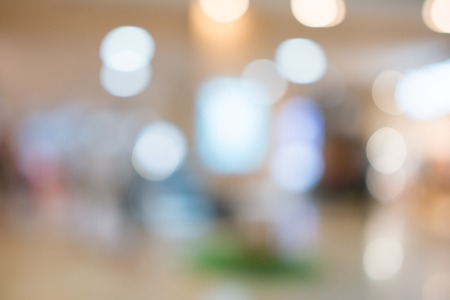 Store, shopping mall abstract defocused blurred background Imagens