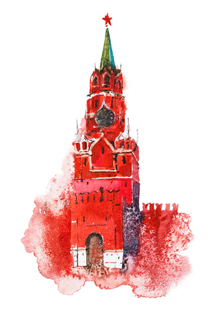 Spasskaya Tower Moscow Kremlin. Russia Red Square