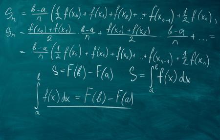 Math formulas written school board Chalkboard, blackboard. Stockfoto