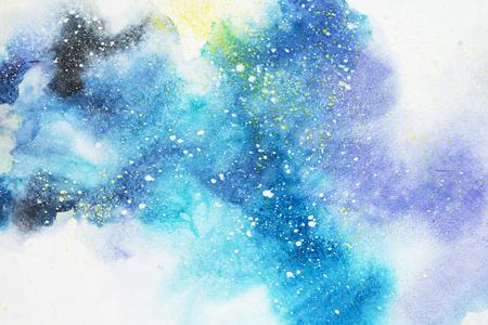 Peinture abstraite à l'aquarelle. Dessin à l'aquarelle. Fond de texture de taches colorées.