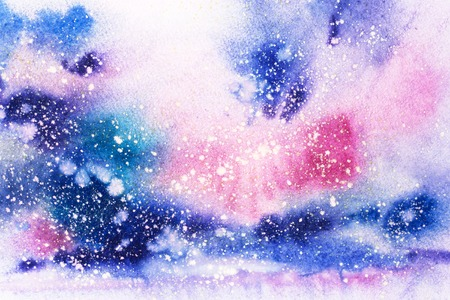 Illustration aquarelle abstraite. Peinture à l'aquarelle dessinée à la main. Fond texturé de taches colorées.
