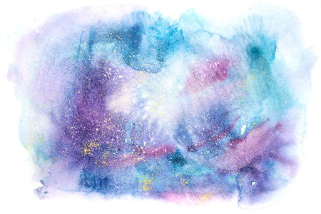Watercolor abstract painting. Water color drawing. Watercolour blots texture background. Stock Photo