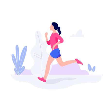 Atlético joven trabajando, corriendo, trotando