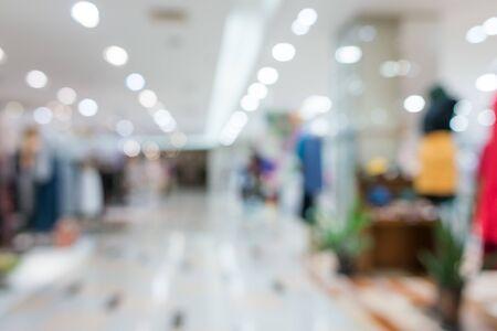 Shopping mall blurred background Defocused deparment store Reklamní fotografie - 124622864