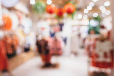 Shopping mall blurred background Defocused deparment store