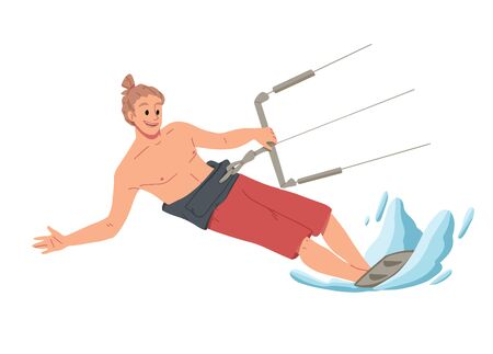 Man surfing, riding on the water. Summer leisure. Stock Photo