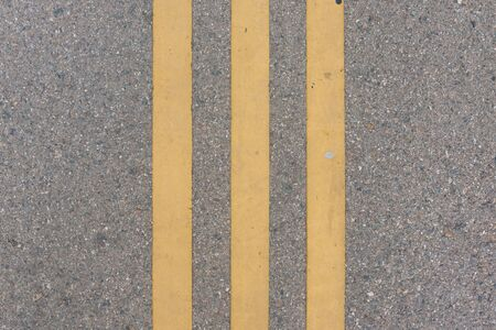 Lines on the road Pedestrian pathway Road marking straight lines. 写真素材