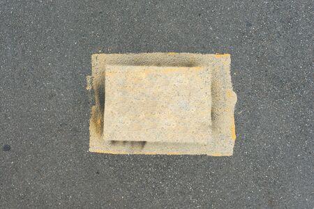 Asphalt road background Texture of the tarmac, top view. Banco de Imagens