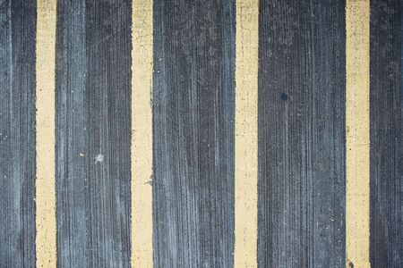 Lines on the road Pedestrian pathway Road marking straight lines. Banco de Imagens
