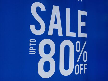 Sale posters up to 80 percents discount store discount sign showcase