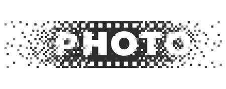 Photo logo analogue digital and film photography logotype