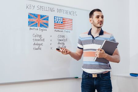 Grammar rules in english. Learning foreign language. School, lesson, class.