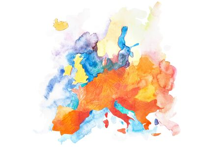 Map of Europe. Global warming concept in European Union.