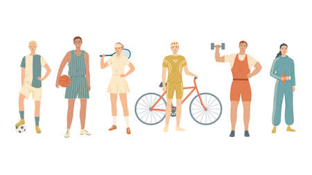 Group of athletes from different kinds of sports