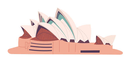 Australia Sydney Opera House isolated vector illustration.