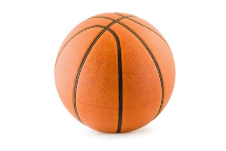 An orange basketball isolated on white with clipping path.