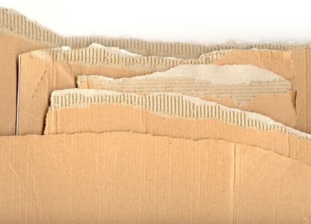 Ripped pieces of corrugated cardboard ready for you to use your design skills on photo