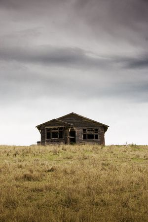 An old abandoned house, Hawkes Bay, New Zealand