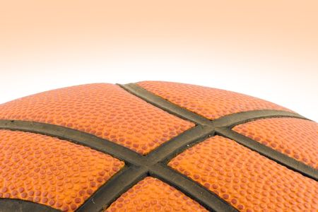 A section of orange basketball isolated