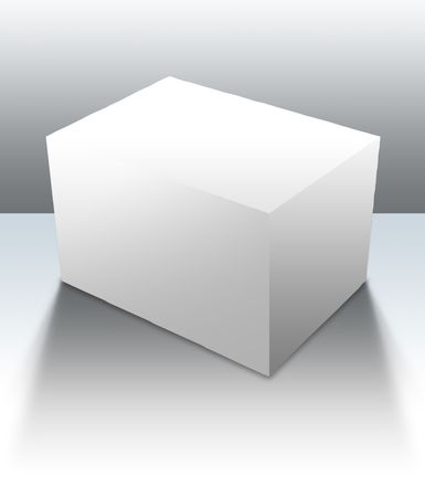 ebox: A blank box ready for your product -guides included for easy isolation of shapes and surfaces Stock Photo