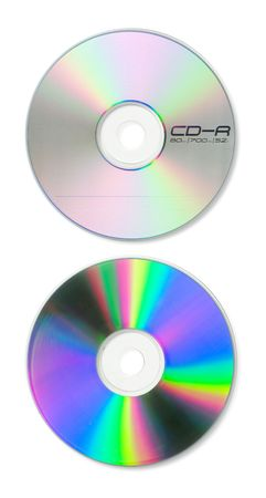 A blank CD with guides and paths for easy isolation