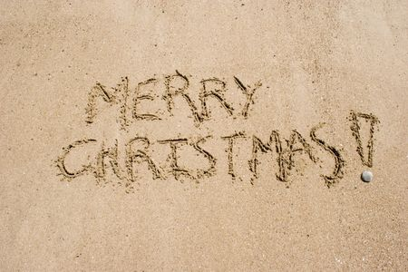 christmas tide: Merry Christmas in the sand. A summer Christmas in the Southern Hemisphere.