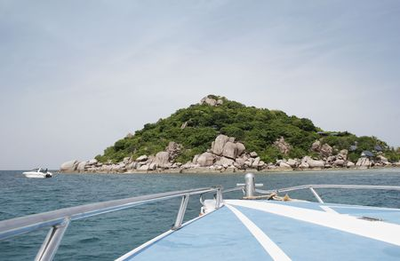 Rock formations on the coast of Nangyuan Island, Thailand Stock Photo - 2575539
