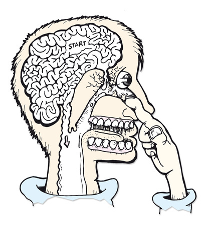 When you pick your nose your skull collapses in and your brain leaks out Stock Vector - 3245561