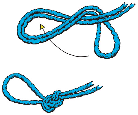 An illustration of a figure of eight loop Vector