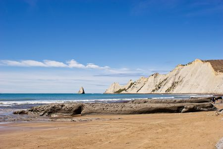 zealand: Cape Kidnappers, Hawkes Bay, North Island, New Zealand. Stock Photo