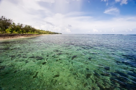 Haatafu Beach on Tongatapu Island. Stock Photo