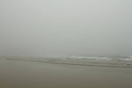 Foggy Day at the Beach 版權商用圖片 - 23218464